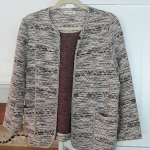 Boucle front close jacket